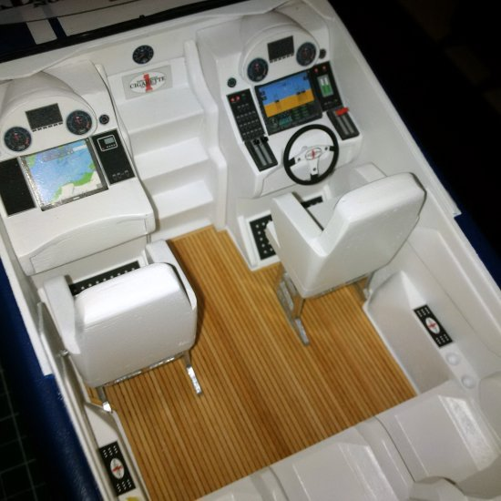Image of powerboat cockpit