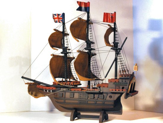 Mayflower ship model restoration