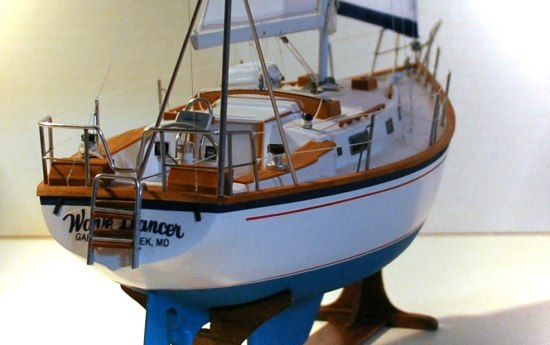 Image of sailboat model stern