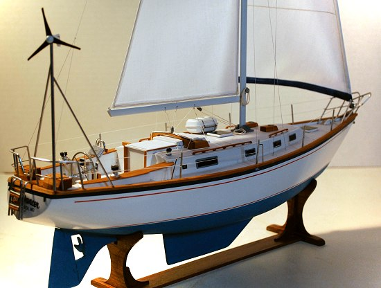 Image of morgan 384 sailboat model