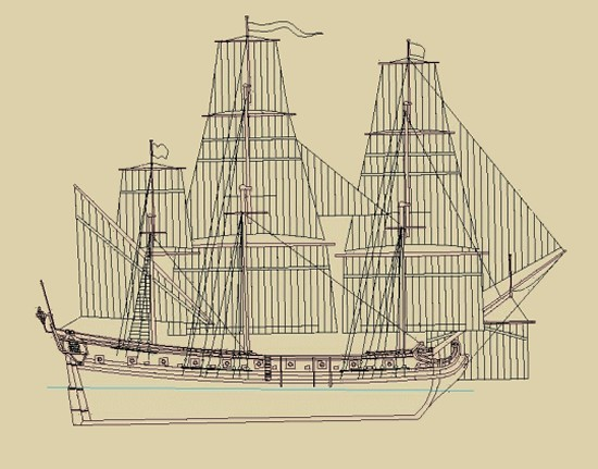 Design of the Queen Anne's Revenge