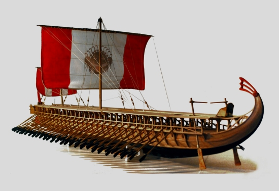 Image of trireme model