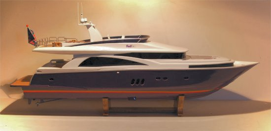 Custom FedEx Johnson 75' cruiser model
