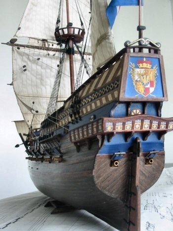 Dutch galleon 'Vergulde Leeuw' stern