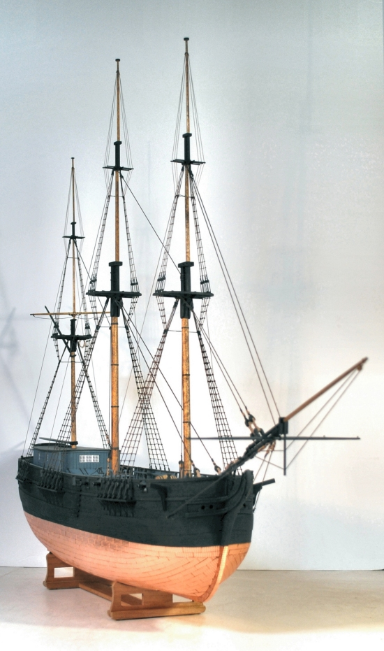 Image of model hull