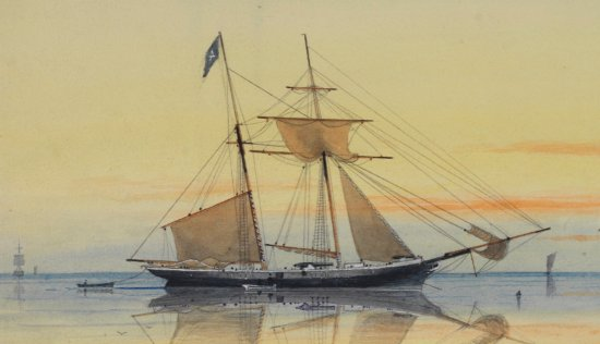 Image of pirate schooner